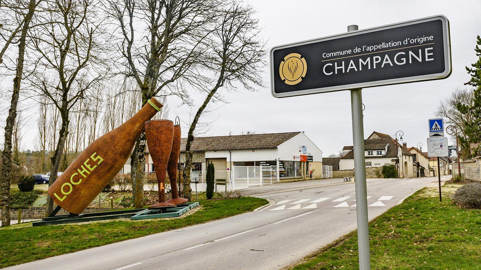 Champagnerdorf der Côte des Bars: Loches. Foto: Hilke Maunder