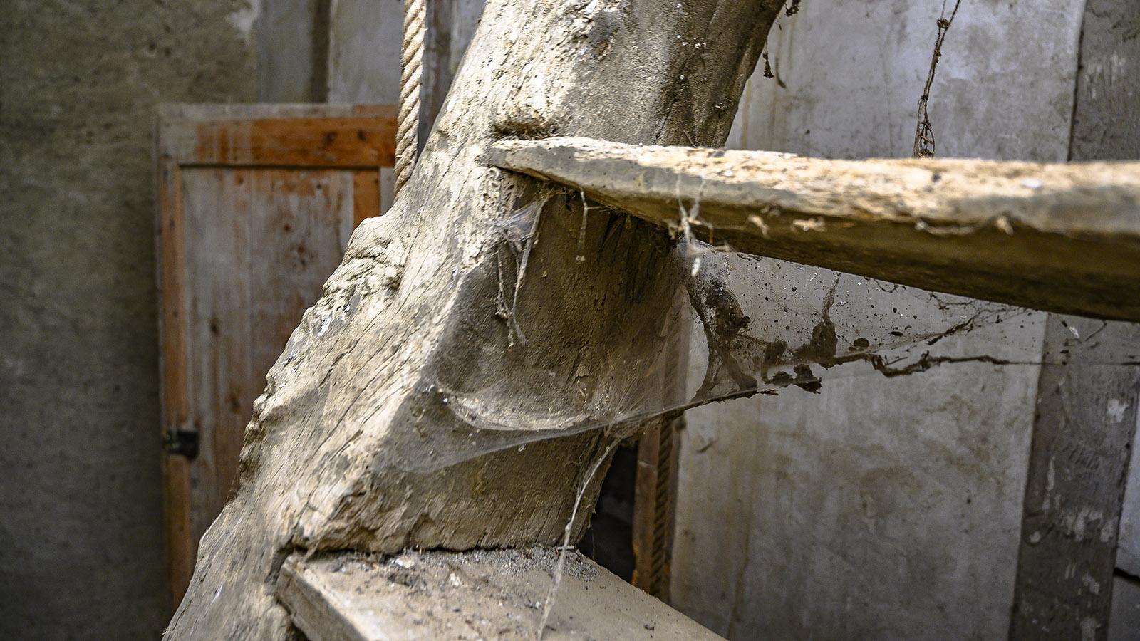 Die Stiege im Kirchturm von La Serpent. Foto: Hilke Maunder