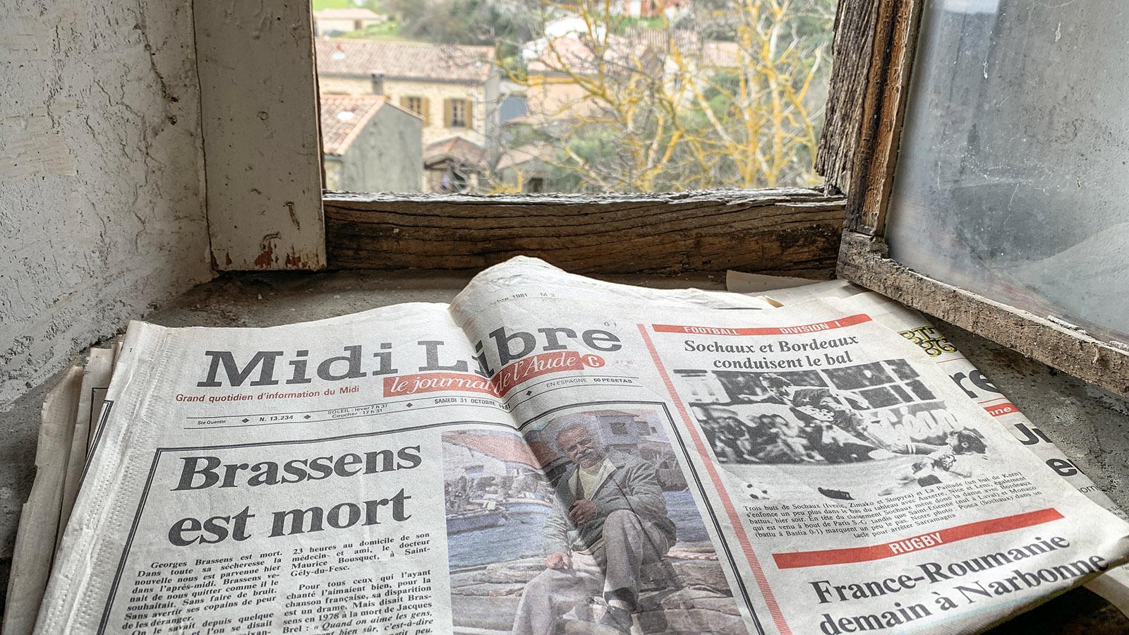 La Serpent: Midi Libre vom 31.10.1981. Foto: Hilke Maunder