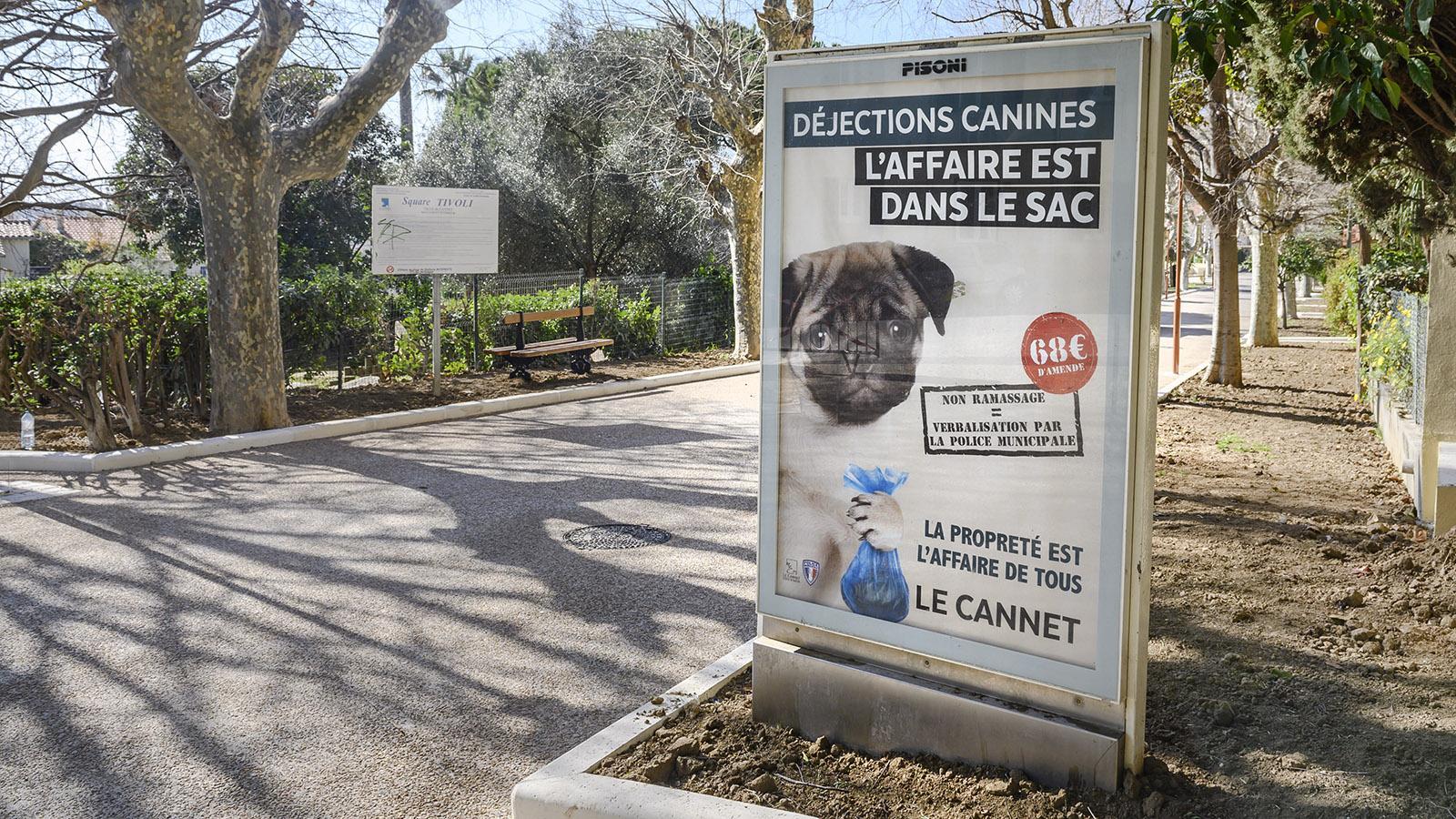 """Auch Le Cannet belegt das Liegenlassen der """"crottes"""" mit Strafe"""