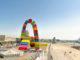 """Vincent Ganivet schuf für Le Havre eine """"Catene de Containers"""", ein Bogen aus Containern. Foto: Hilke Maunder"""