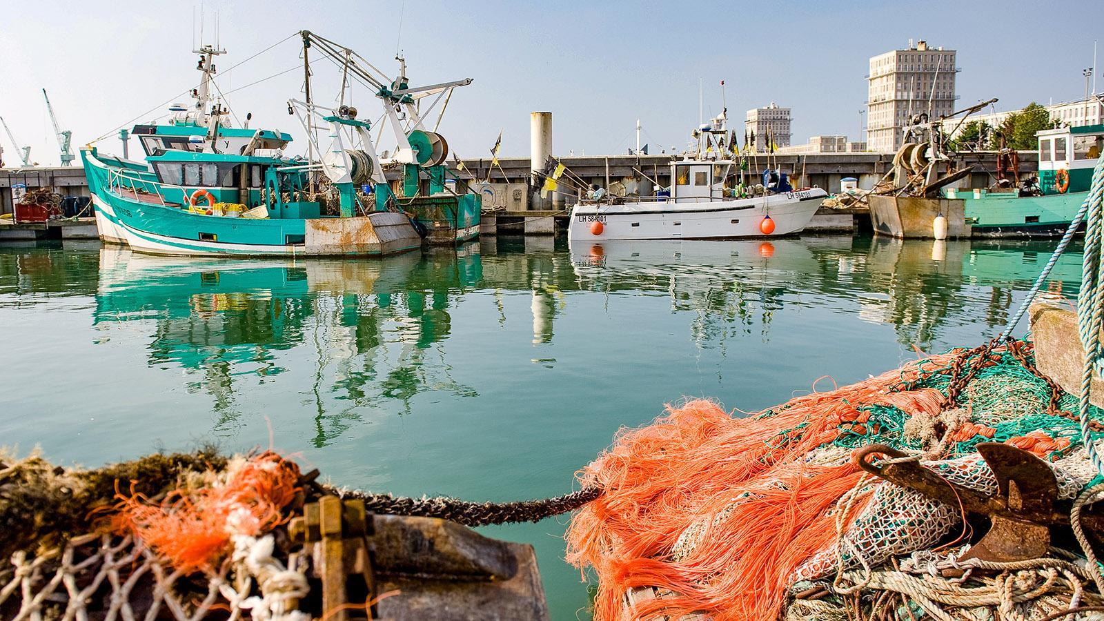 Der Fischereihafen von Le Havre. Foto: Hilke Maunder