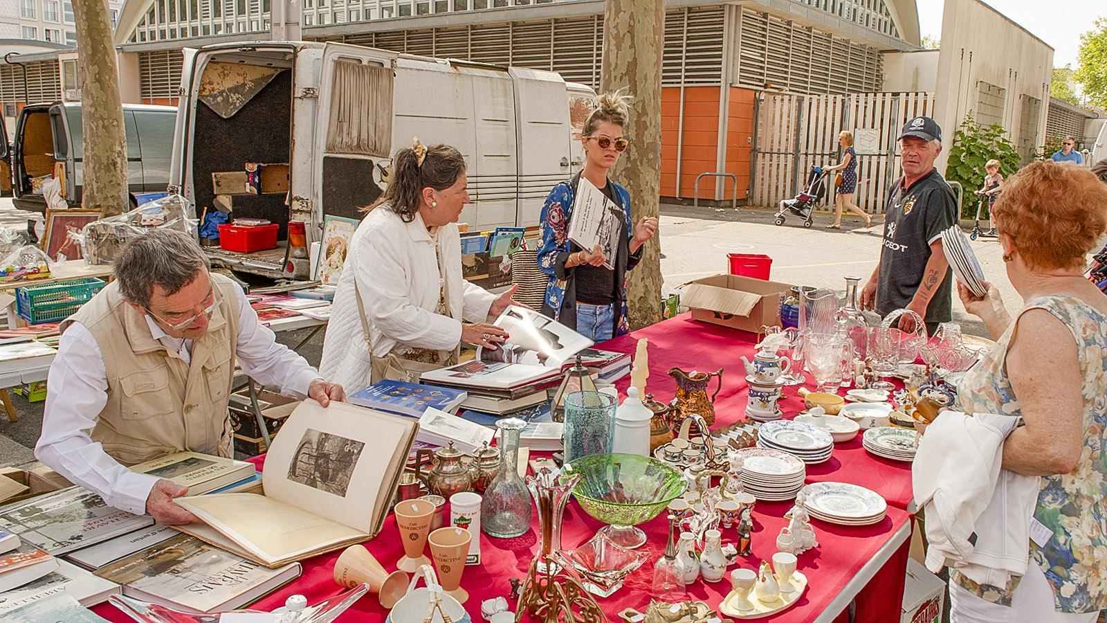 Flohmarkt von der Markthallen von Le Havre. Foto: Hilke Maunder