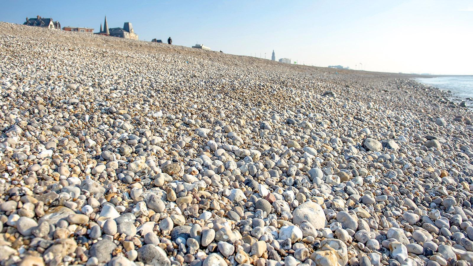 Am S(t)eine-Strand von Le Havre. Foto: Hilke Maunder