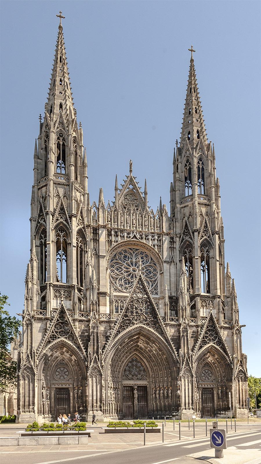 Die Abteien der Normandie: Das Westwerk der Abteikirche Saint-Ouen in Rouen