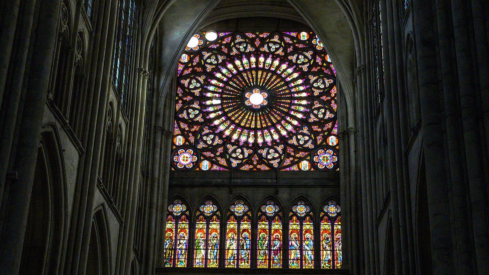 Glasfenster der Kathedrale von Troyes. Foto:: Hilke Maunder