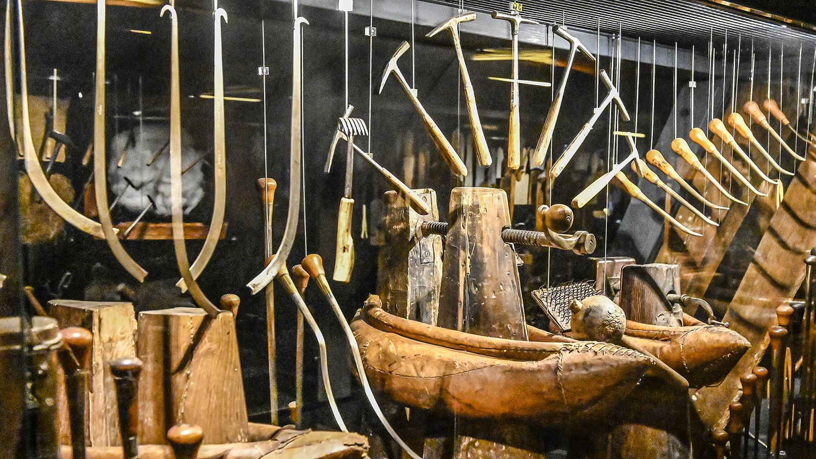 Troyes: Maison de l'Outil, Werkzeugsammlung. Foto: Hilke Maunder