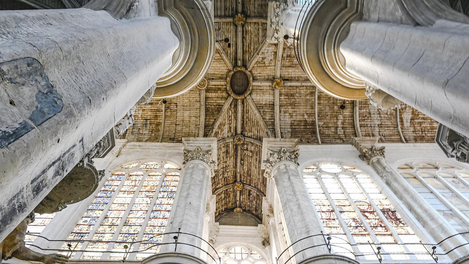 Troyes: das hölzerne Gewölbe von Saint-Pantaléon. Foto: Hilke Maunder