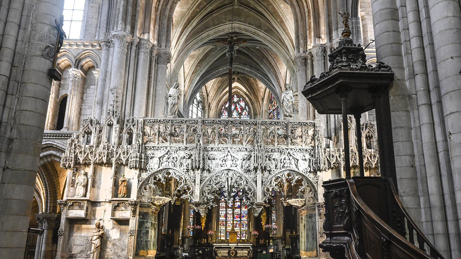 Troyes: Sainte-Madeleine, Lettner. Foto: Hilke Maunder
