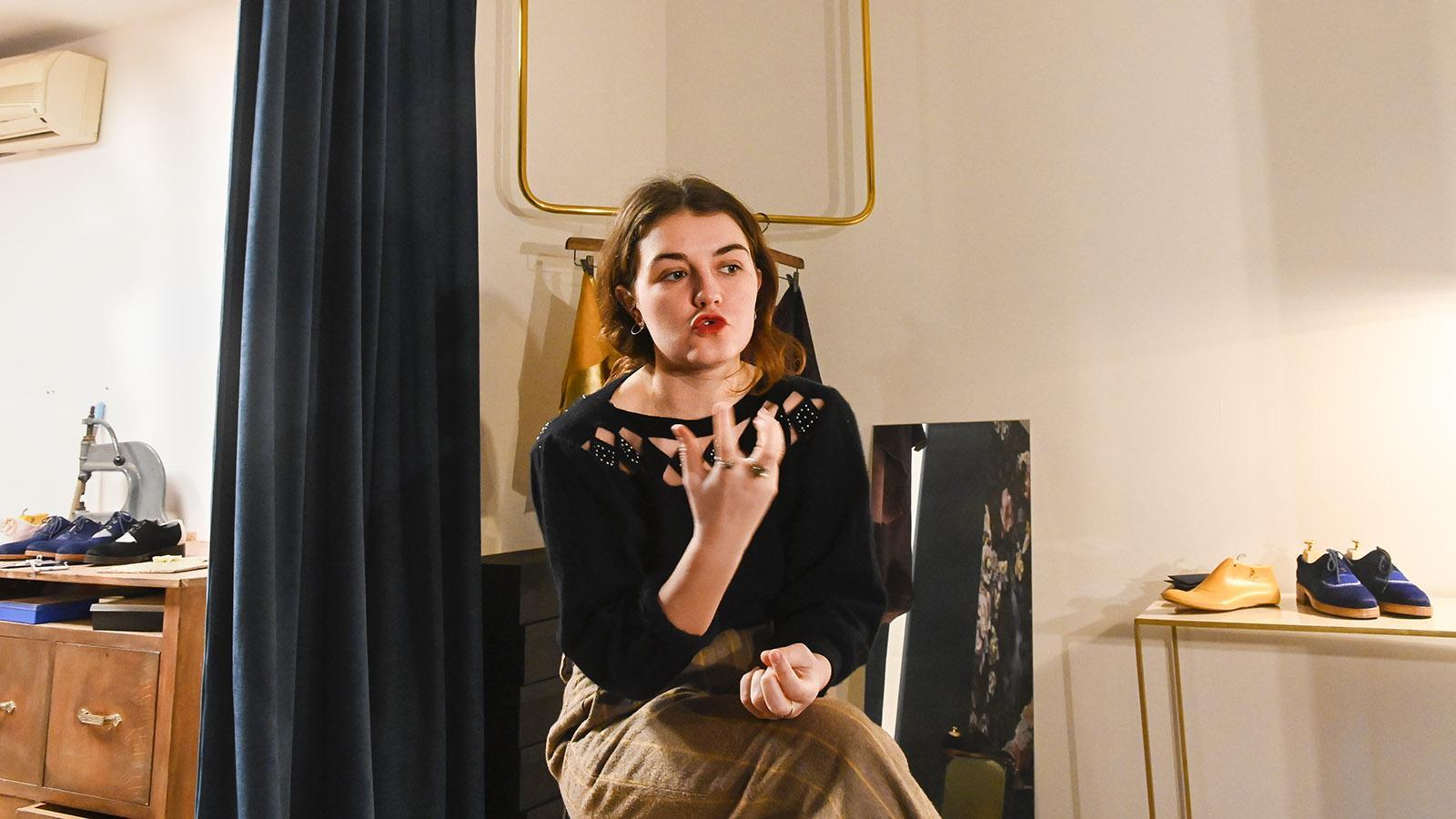 Schuhdesignerin Marie Weber aus Troyes. Foto: Hilke Maunder