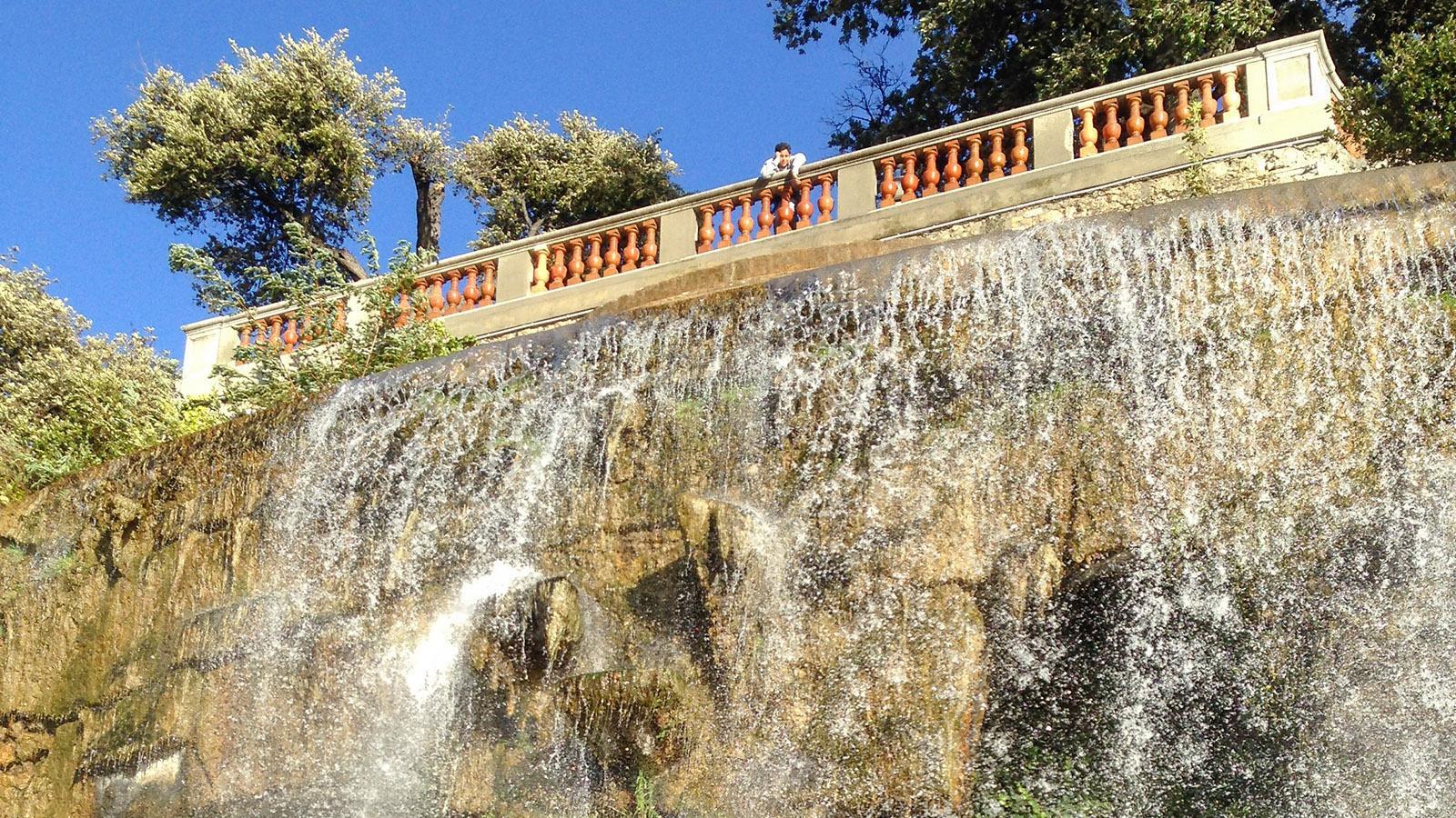 Nizza: das Wasserspiel der Colline du Château. Foto: Hilke Maunder