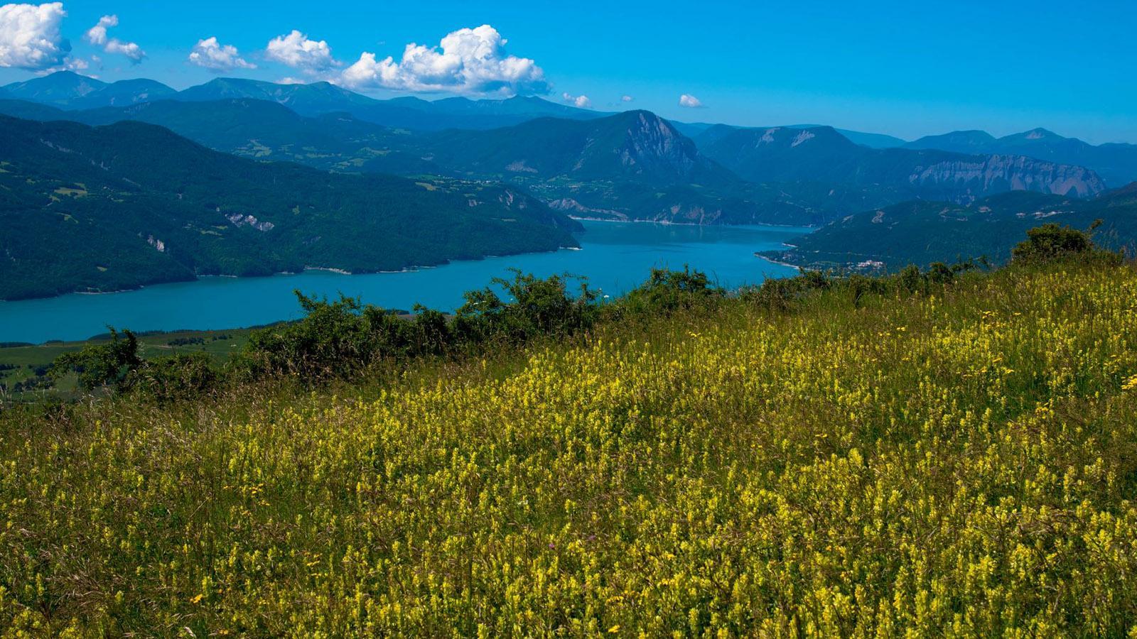 Blick auf den Lac de Serre-Ponçon. Foto: Hilke Maunder