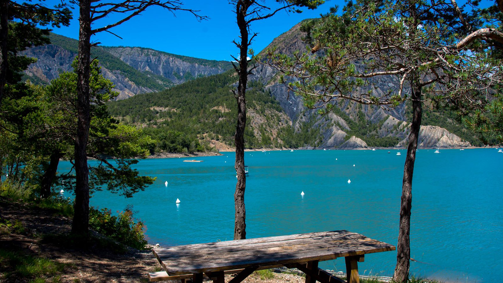 Lac de Serre-Ponçon. Foto: Hilke Maunder