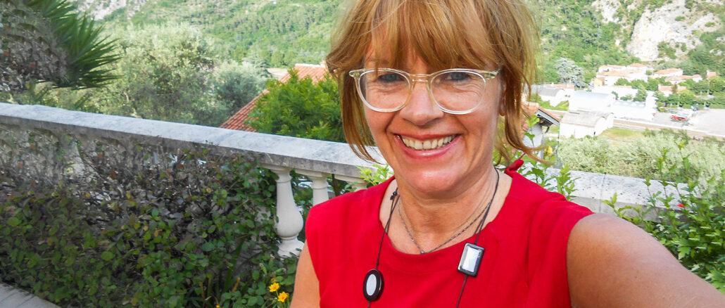 Katharina Kehmer in Breil-sur-Roya. Foto: privat