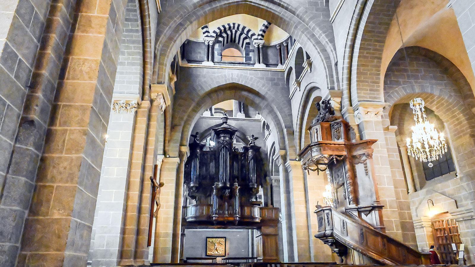 Die Orgel der Kathedrale von Le Puy-en-Velay. Foto: Hilke Maunder