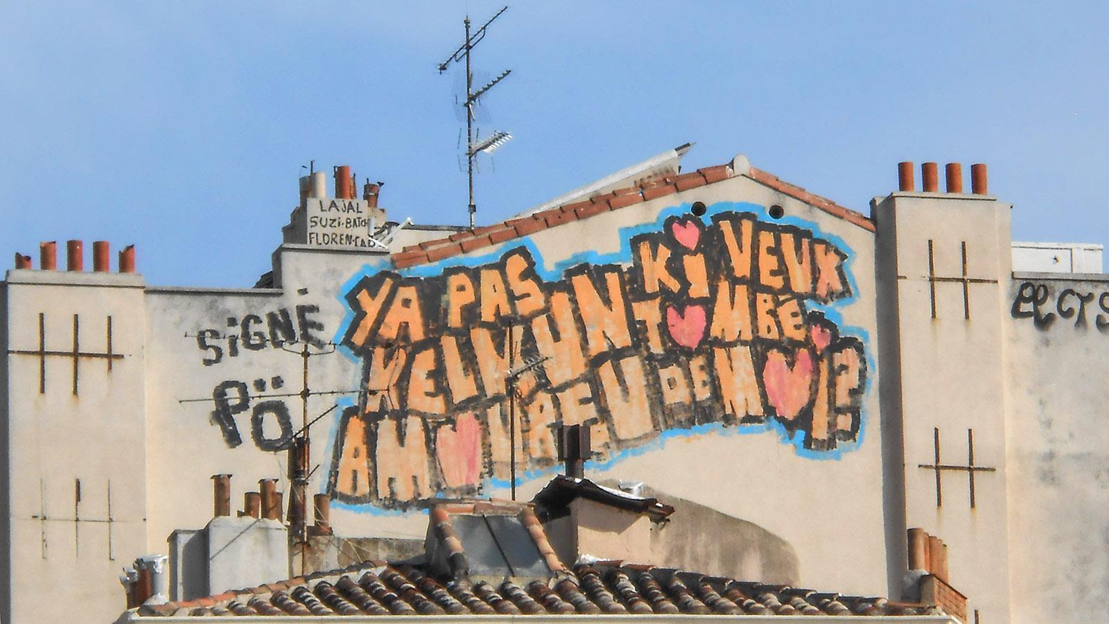 Graffiti in Marseille. Foot: Katharina Kehmer