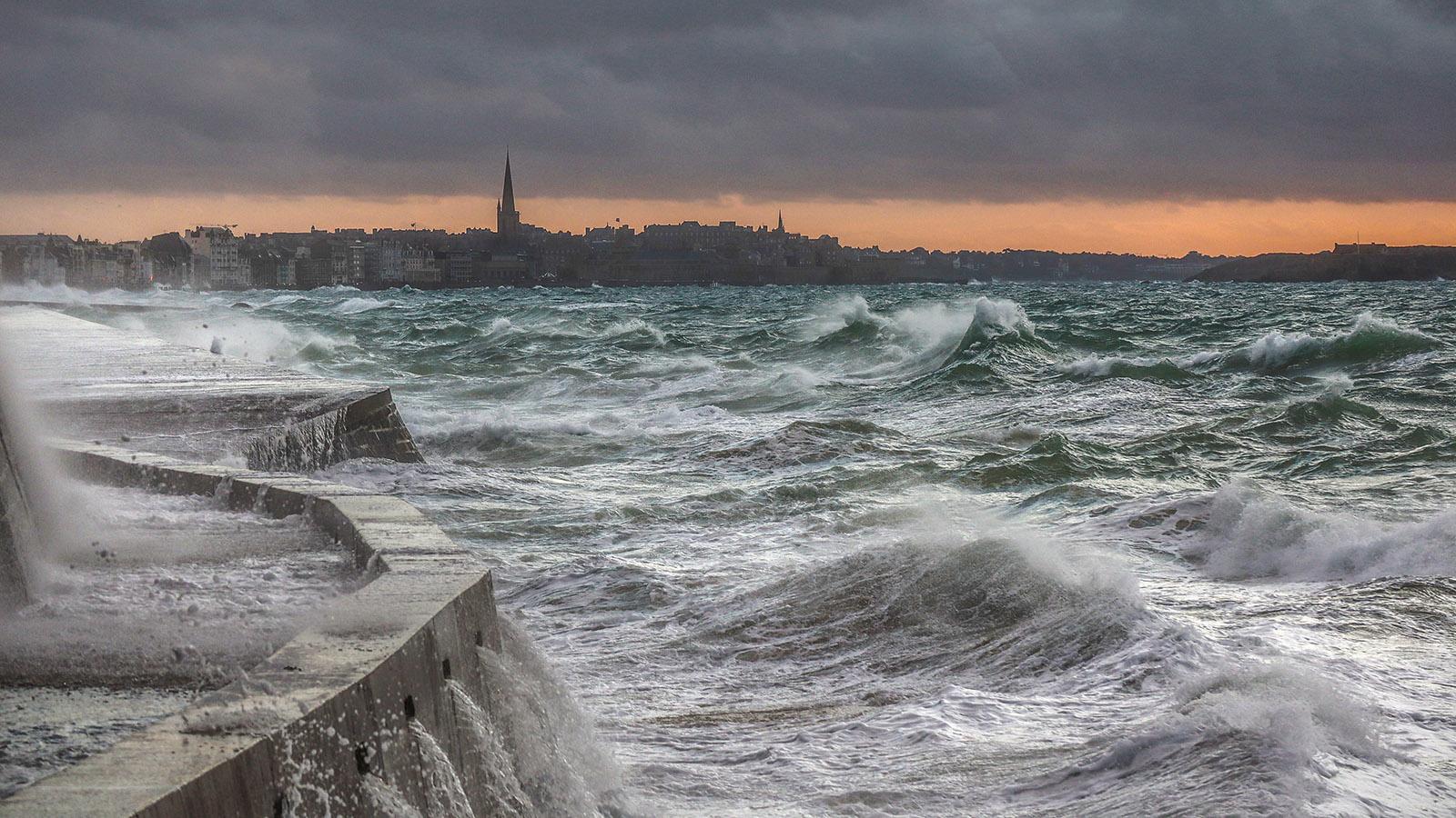 Saint-Malo_: La Grande Marée, die große Flut. Foto: Hilke Maunder