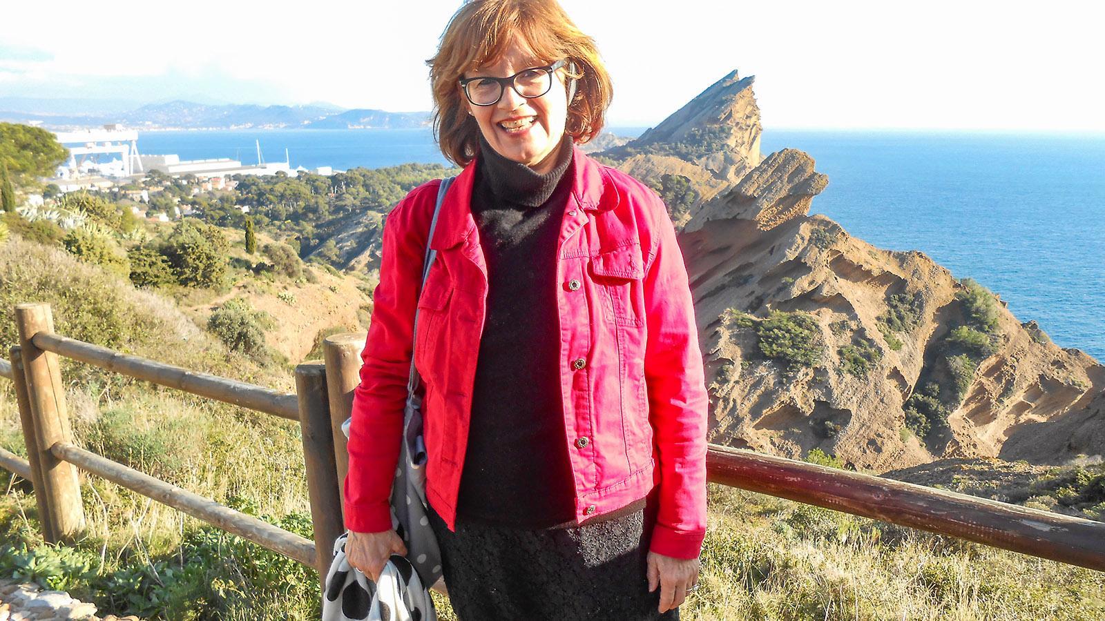 Katharina Kehmer in La Ciotat. Wunderschön: der Ausblick aufs Meer von der Chapelle N.D. de la Garde. Foto: privat