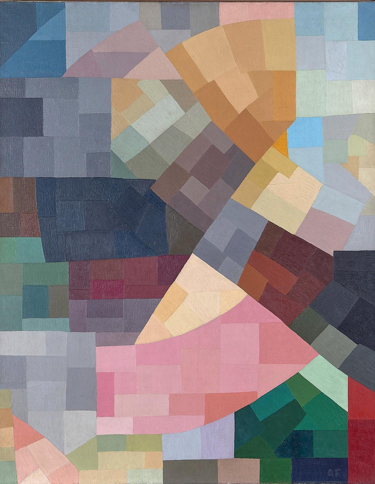 Otto Freundlich, Composition, 1931 Öl auf Leinwand, 146 x 114 cm Musée de Pontoise, Donation Freundlich © Musée de Pontoise
