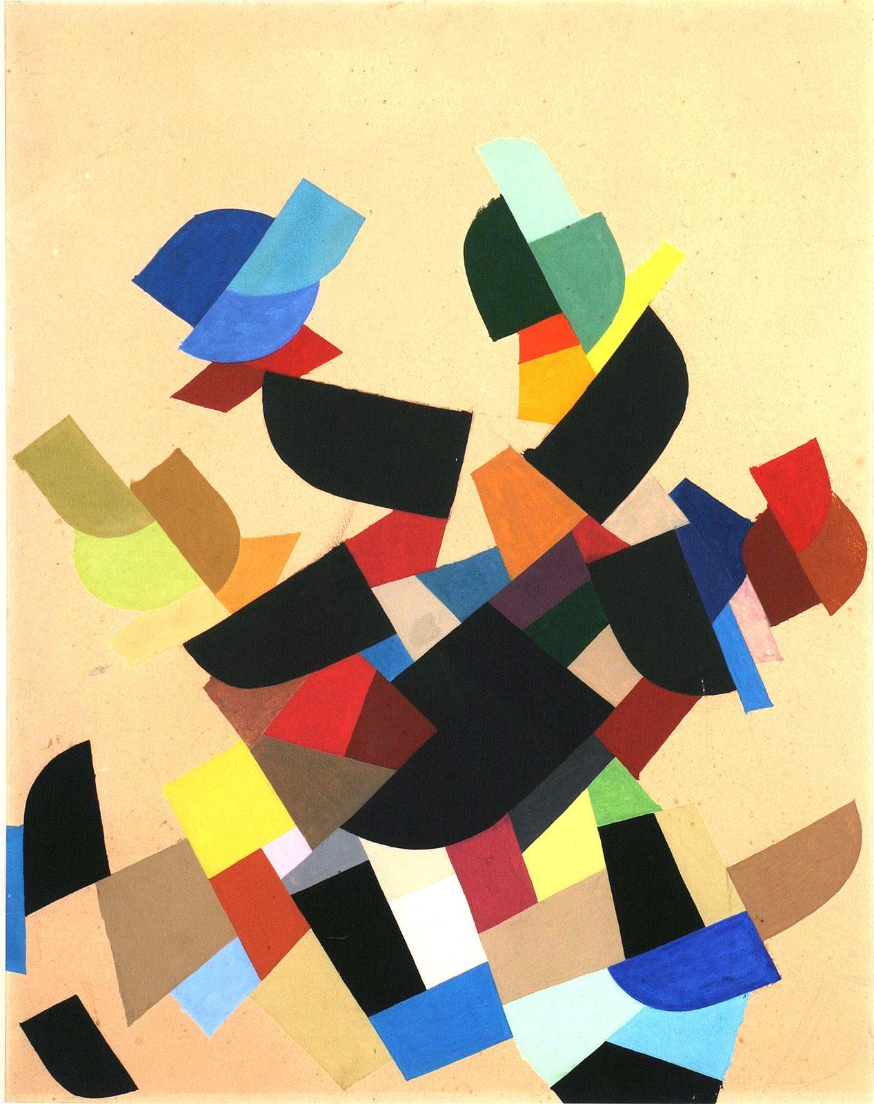 Otto Freundlich: Composition inachevée, 1943 Gouache sur carton, 65 x 50 cm Musée de Pontoise, Donation Freundlich © Musée de Pontoise