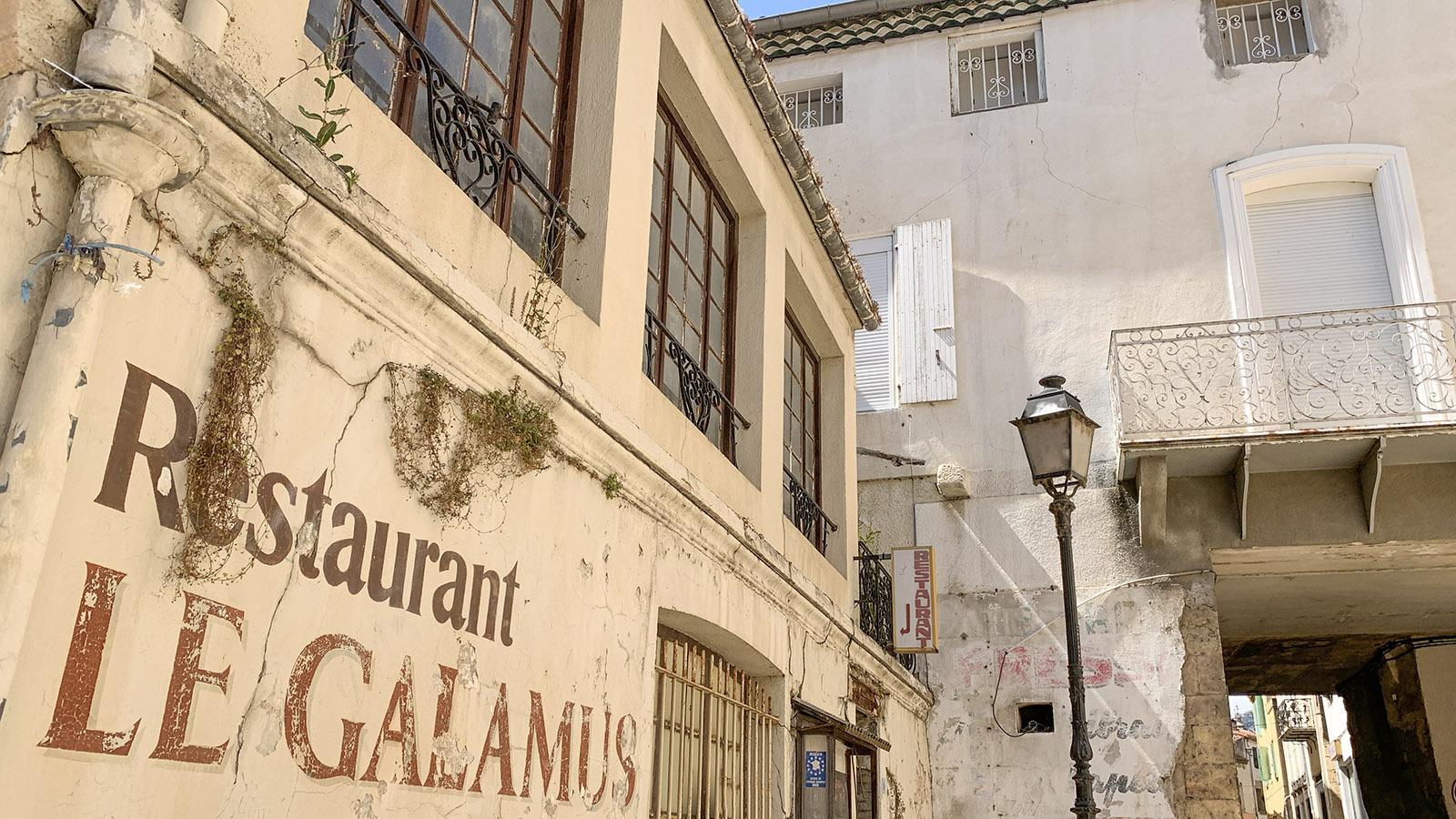"""Otto Freundlich: Bevor der Maler ein Atelier am Boulevard d'Agly bezog, lebte und arbeitete er über dem Restaurant """"Le Galamus"""". Foto: Hilke Maunder"""