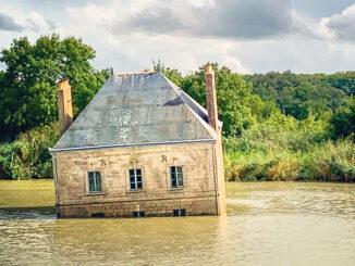 Kunst im Fluss: la maison dans la Loire bei Couëron. Foto: Hilke Maunder