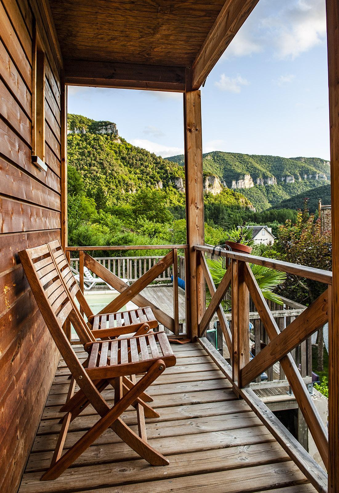 Gorges du Tarn: chambre d'hôte mit Blick auf die Schlucht. Foto: Hilke Maunder