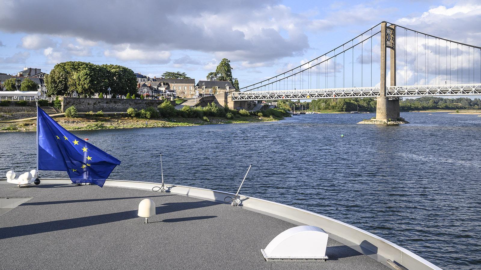 MS Loire Princesse näher sich Ancenis. Foto: Hilke Maunder