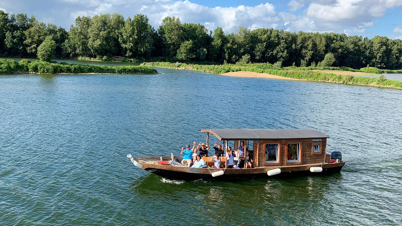 Traditionell flach: die Holzkähne der Loire. Foto: Hilke Maunder