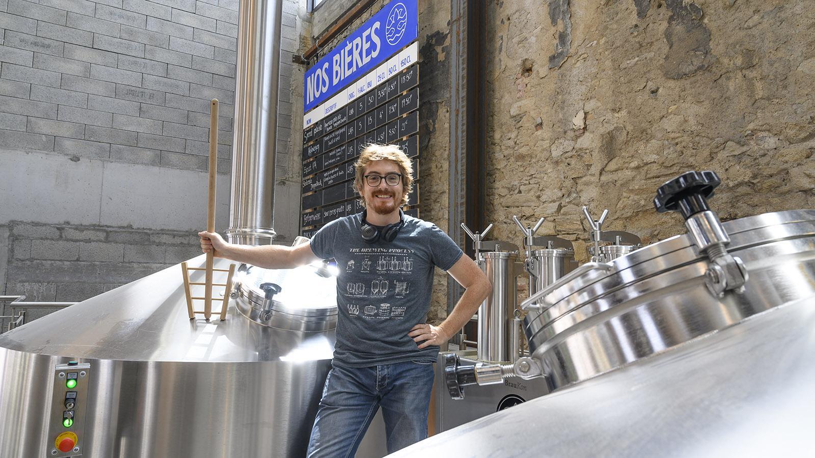 Braumeister Simon hat als Vorbild die deutsche Biertradition –und braut Hefewizen ebenso wie Doppelbock. Foto: Hilke Maunder