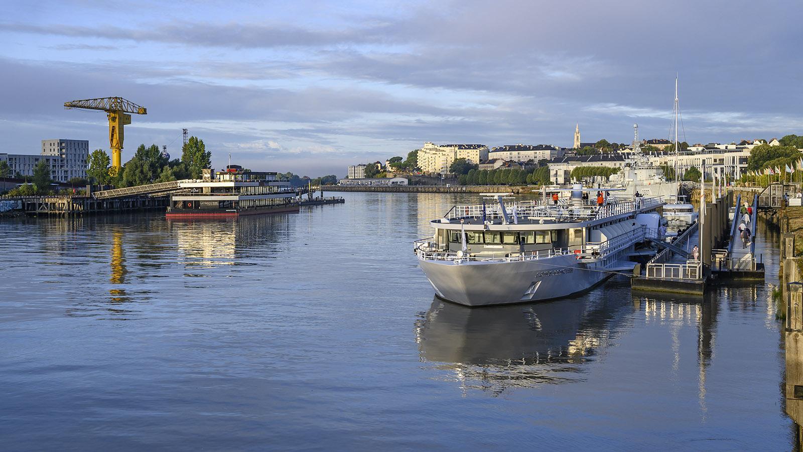 MS Loire PIncesse am Quai de la Fosse von Nantes. Foto: Hilke Maunder