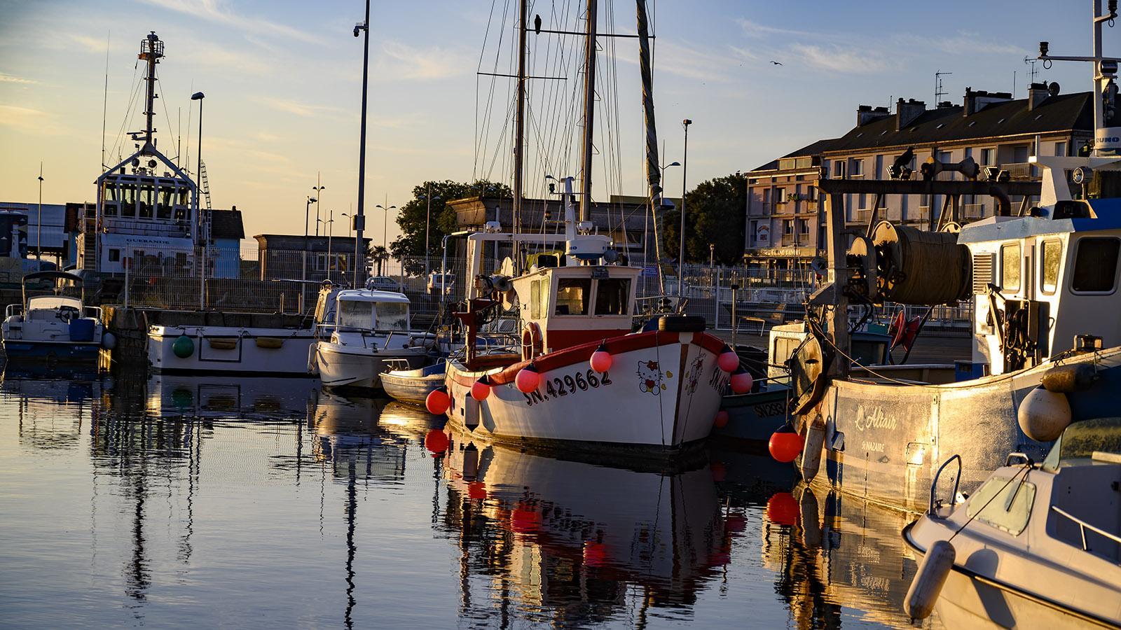 Im Hafen von Saint-Nazaire sind noch einige Fisch-Trawler vertäut. Foto: Hilke Maunder