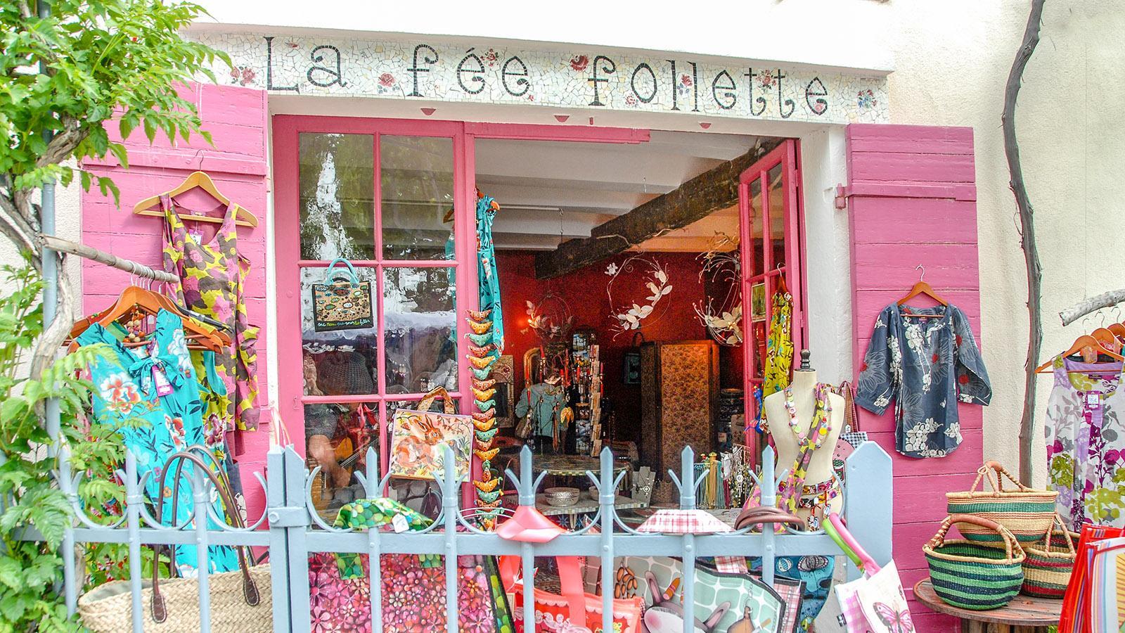 Sanary-sur-Mer: Verspielt & farbenfroh: eine Boutique am Boulevard. Foto: Hilke Maunder