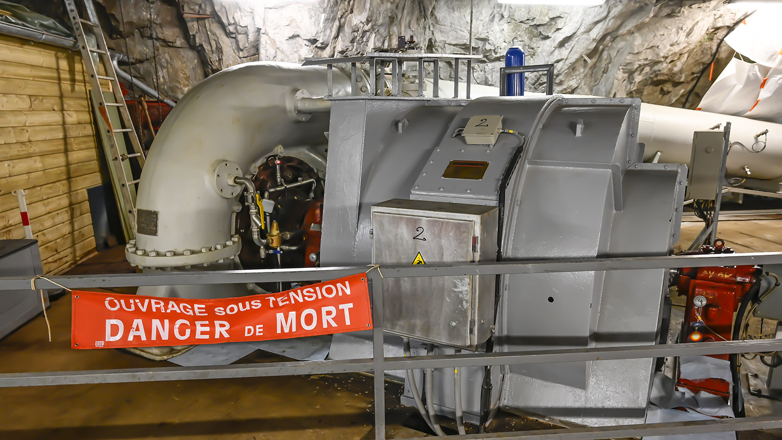 Das unterirdische Wasserkraftwerk. Foto: Hilke Maunder