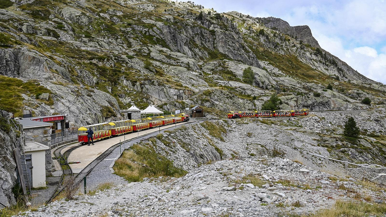 Der Seebahnhof des Petit Train d'Artouste. Foto: Hilke Maunder