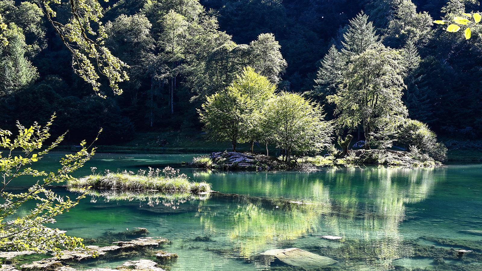 Der Lac de Bethmale. Foto: Hilke Maunder