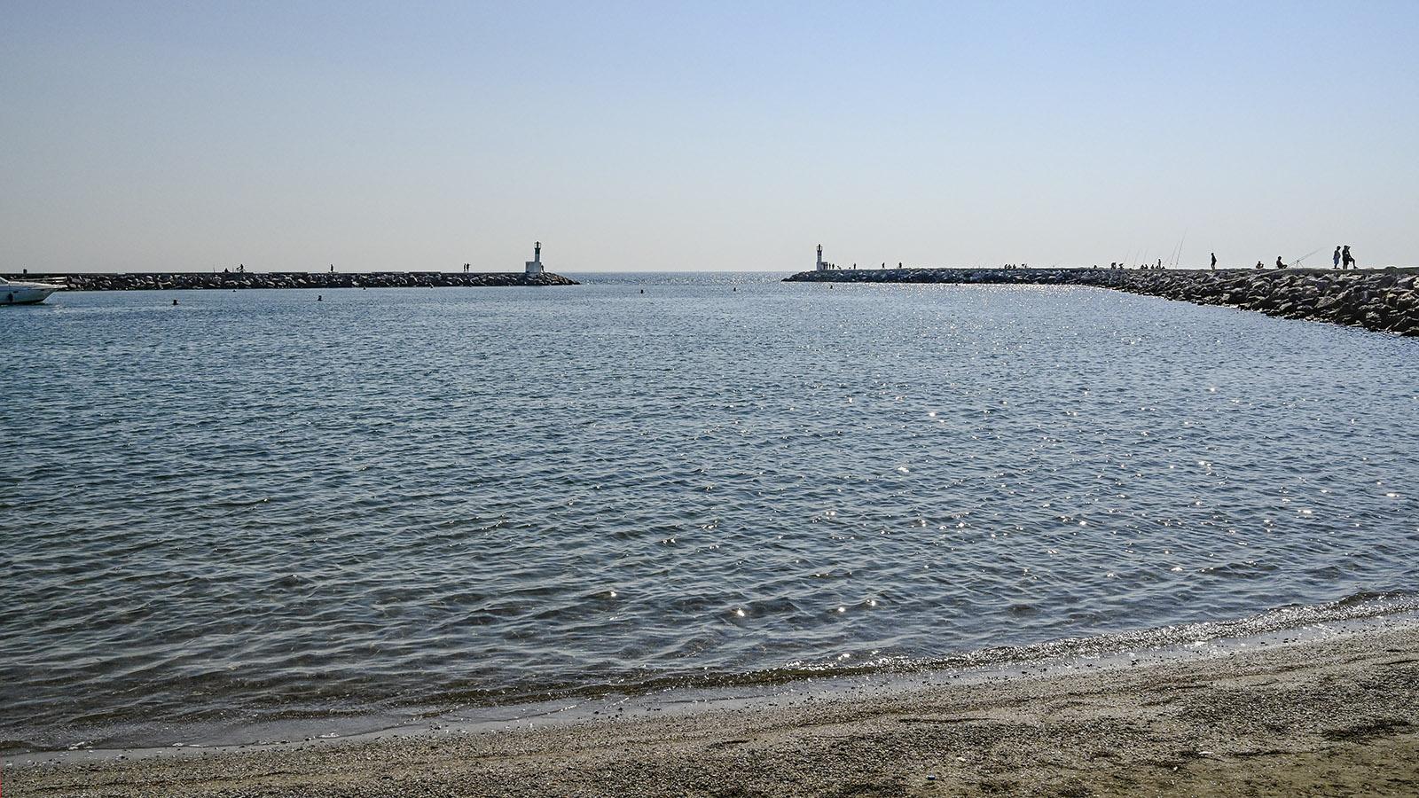 Die Hafenmole von Carnon. Foto: Hilke Maunder