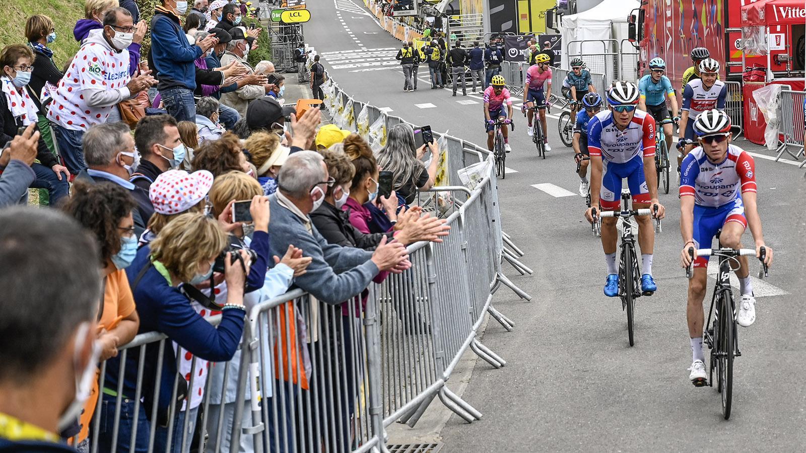 Tour de France, Etappenziel Laruns. Foto: Hilke Maunder