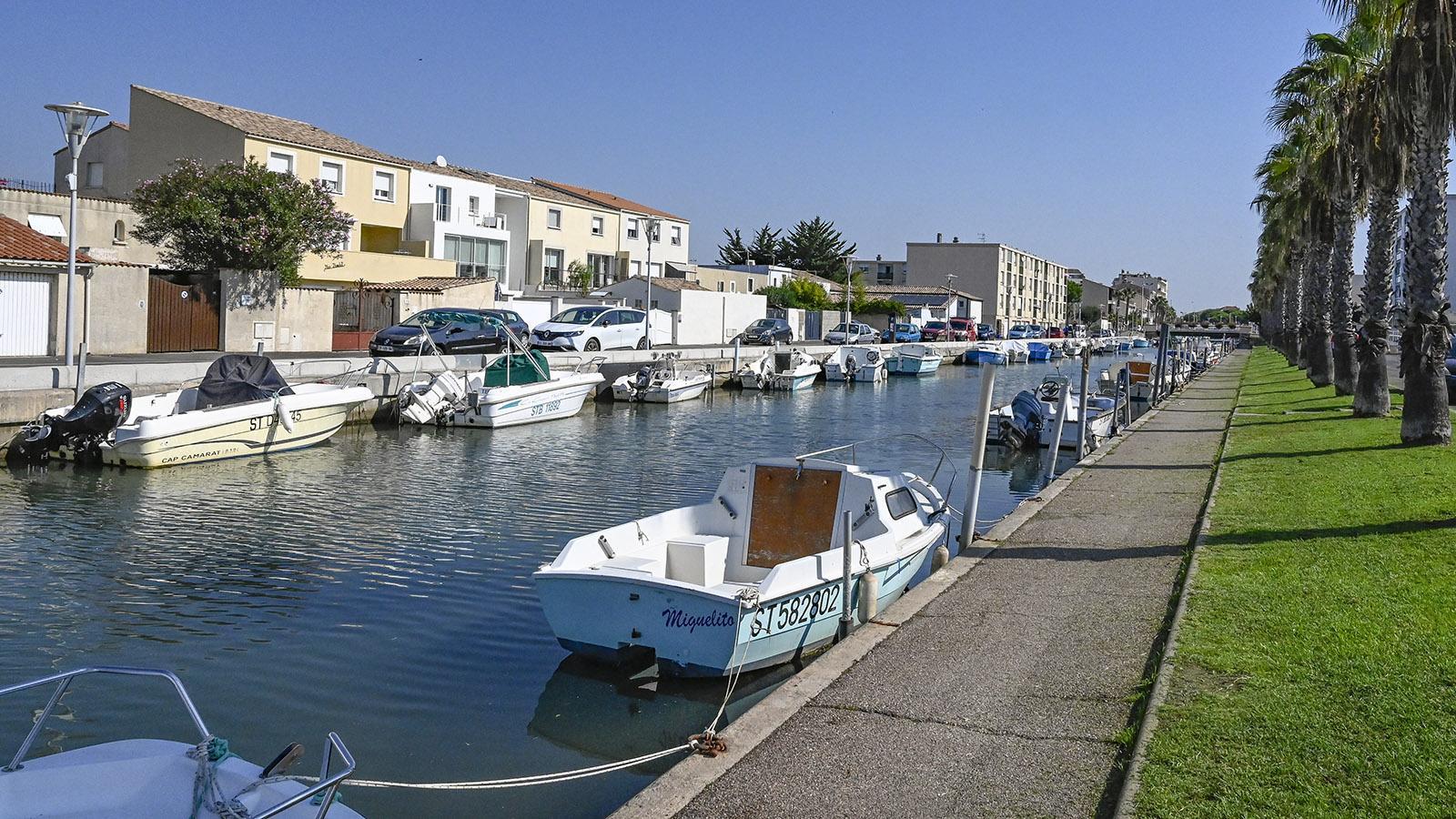 Palavas-les-Flots ist von Kanälen durchzogen. Foto: Hilke Maunder