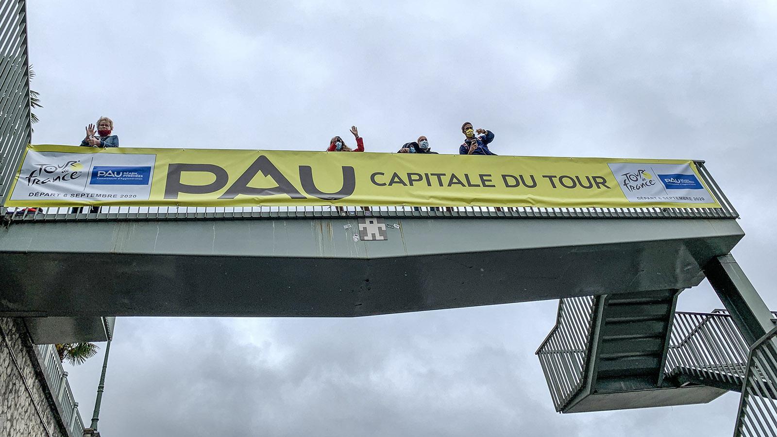 Pau, Hauptstadt der Tour de France: 72 Mal war die Hauptstadt des Béarn bereits Etappenort des Radrennens. Foto: Hilke Maunder