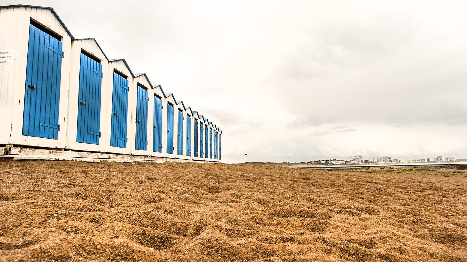 Sardine. Die Strandhütten von Saint-Gilles an der Plage de Boisvenet. Foto: Hilke Maunder