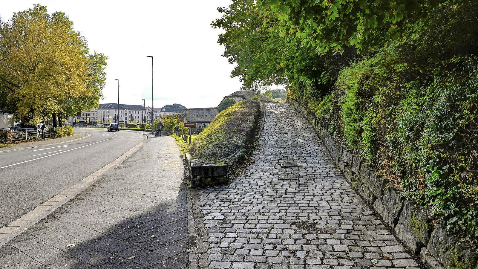 Saarlouis: Der Aufgang zur Bastion VI. Foto: Hilke Maunder