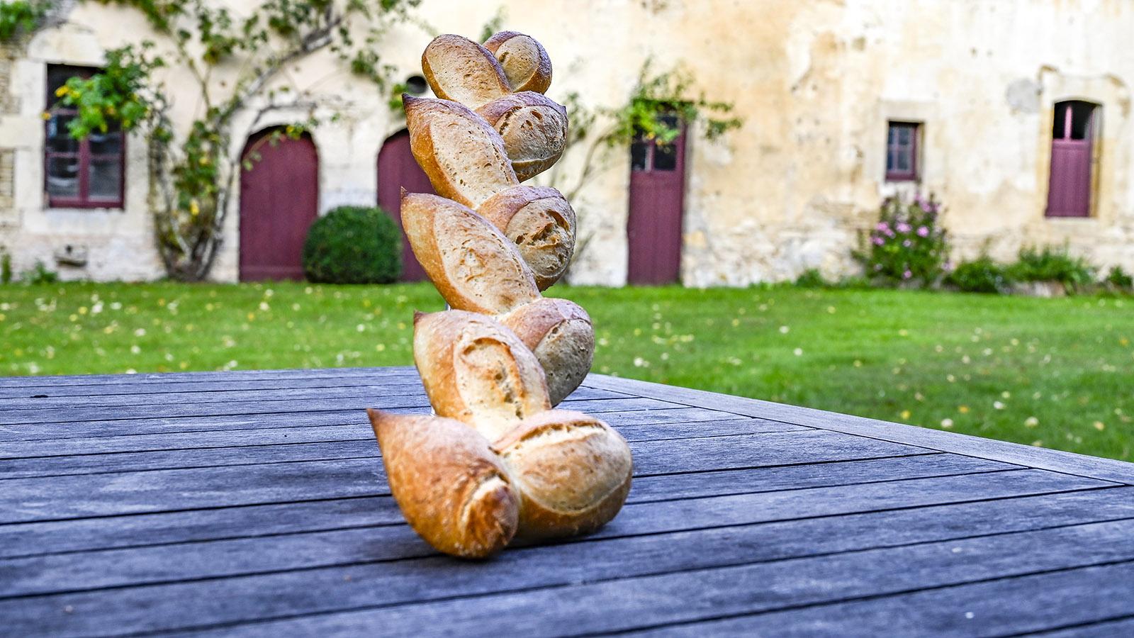 In der boulangerie von Morteaux-Coulibœuf entdeckt: eine baguette épi. Foto: Hilke Maunder