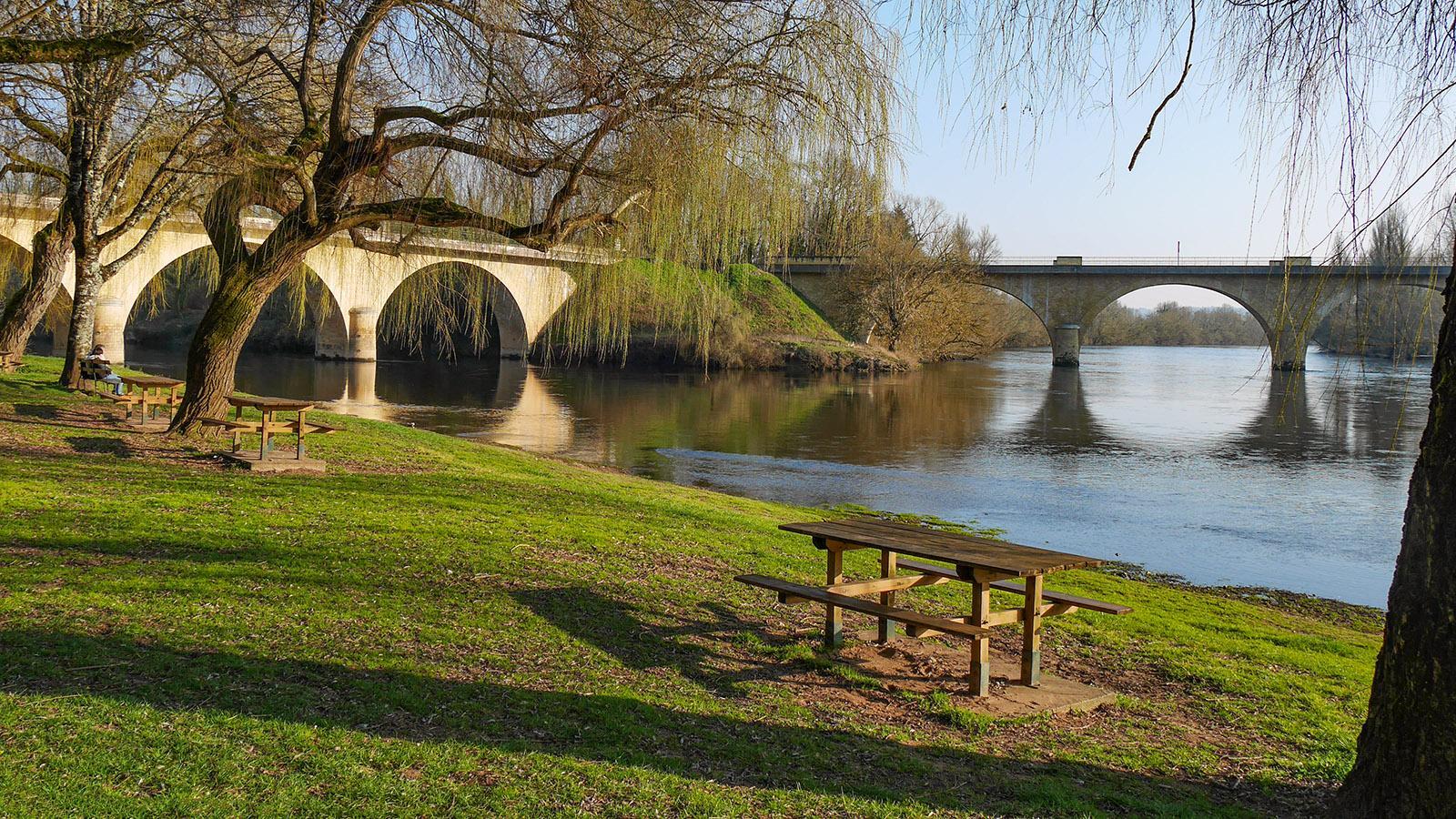 Am Zusammenfluss von Dordogne und Vézère. Foto: Kerstin Gorges