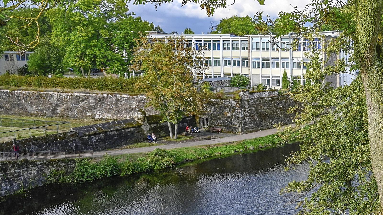 Saarlouis: Das Gymnasium am Stadtgarten. Foto: Hilke Maunder