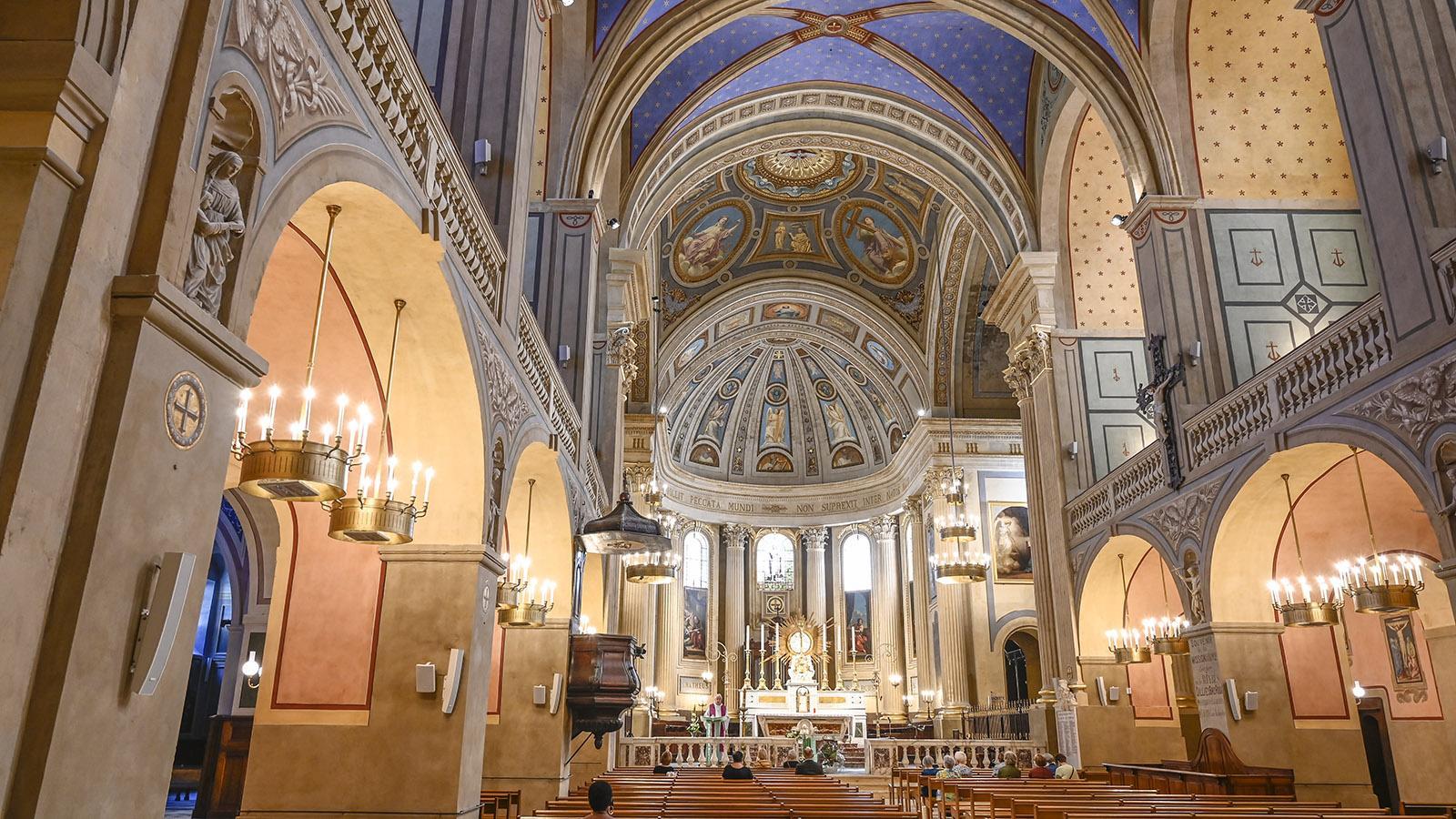 Alès: Im Innern der Cathédrale Saint-Jean-Baptiste. Foto: Hilke Maunder