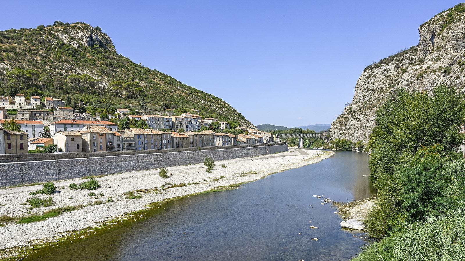 Anduze und seine Klamm. Porte des Cévennes heißt sie, Tor zu de Cevennen. Foto: Hilke Maunder