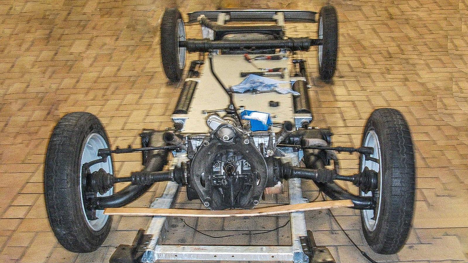 Das Chassis des 2 CV von Sven-Uwe Schulteis. Foto: Sven-Uwe Schulteis
