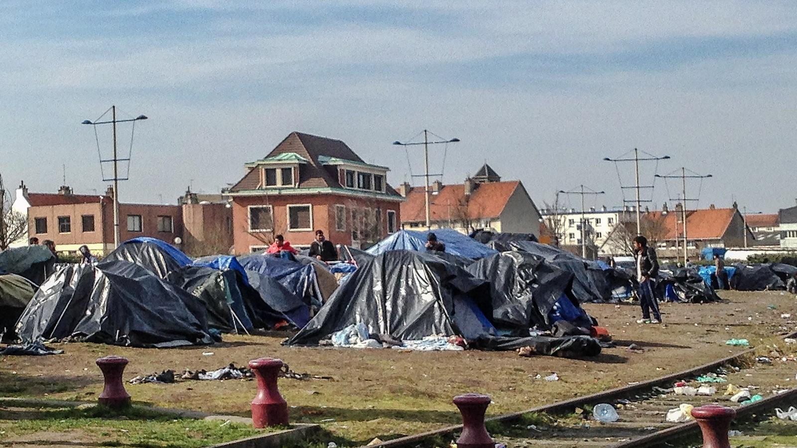 Calais und die Geflüchteten. Foto: Hilke Maunder