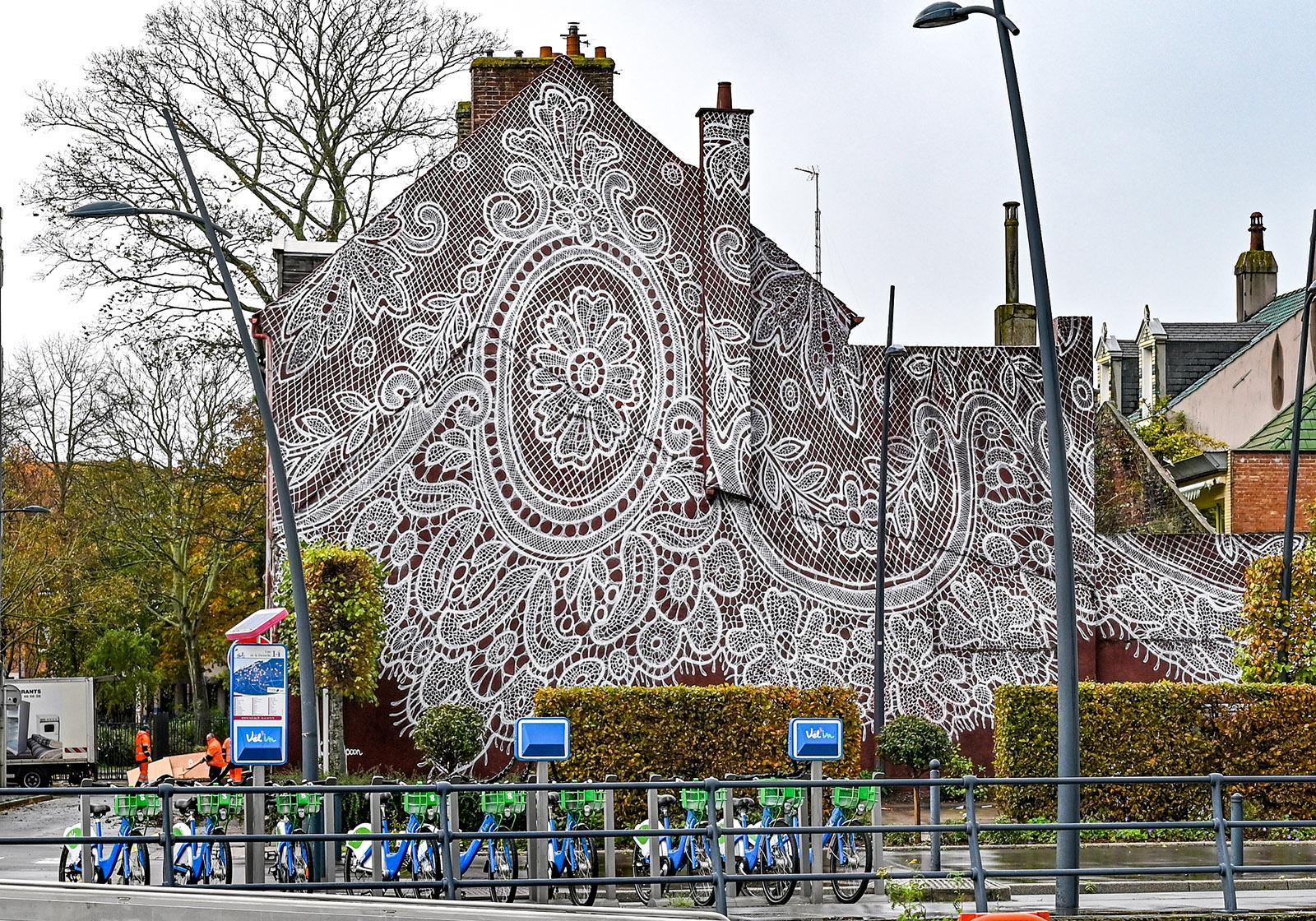 Calais, Street Art von Nespoon. Foto: Hilke Maunder